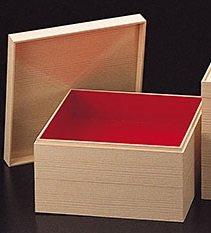 用美 紙重箱・木目調 2段 6.5寸 22356...