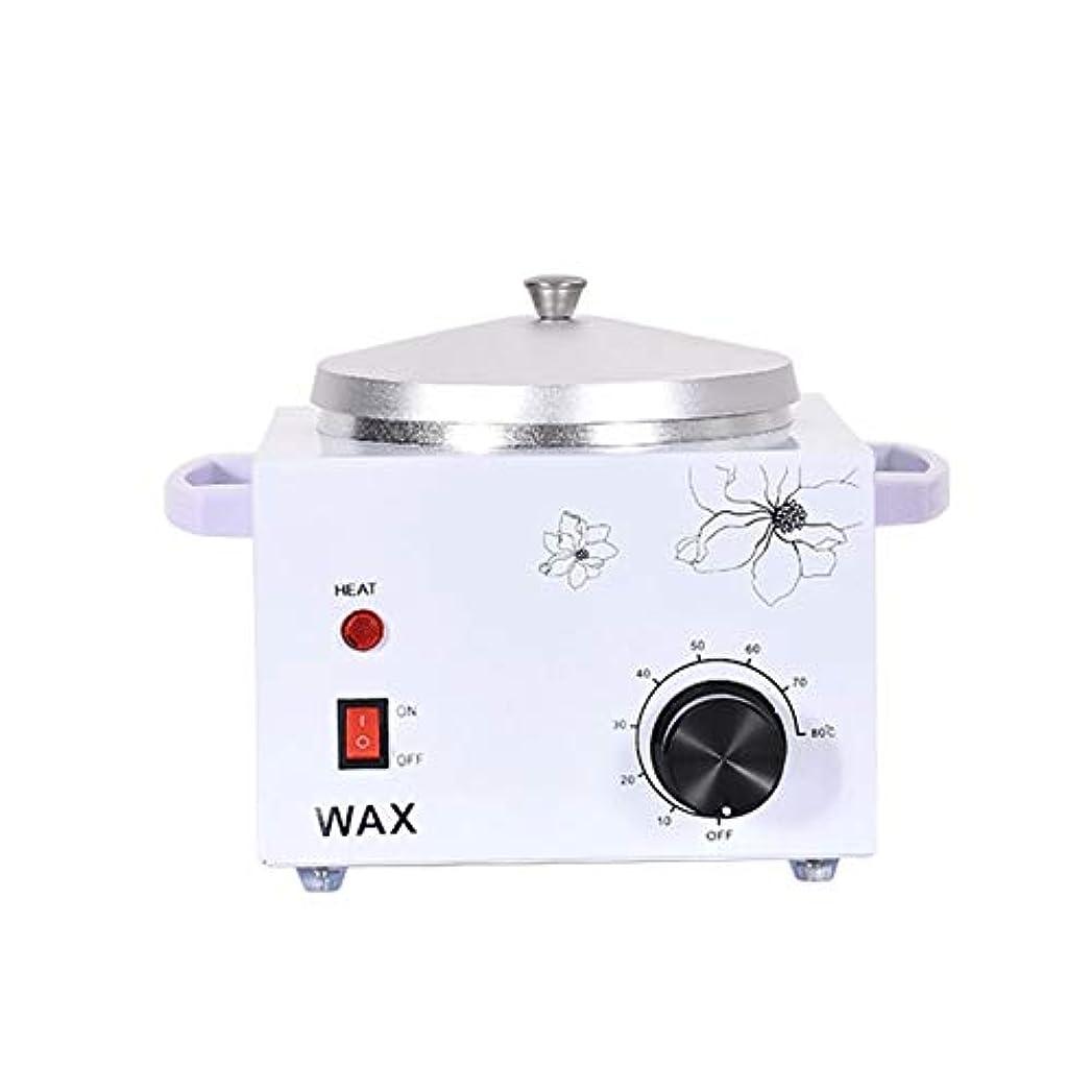 可能にするストローク理容師プロフェッショナル電気ワックスウォーマーヒーター美容室ワックスポット多機能シングル口の炉内温度制御脱毛脱毛ワックスビーンヒーター600ccの