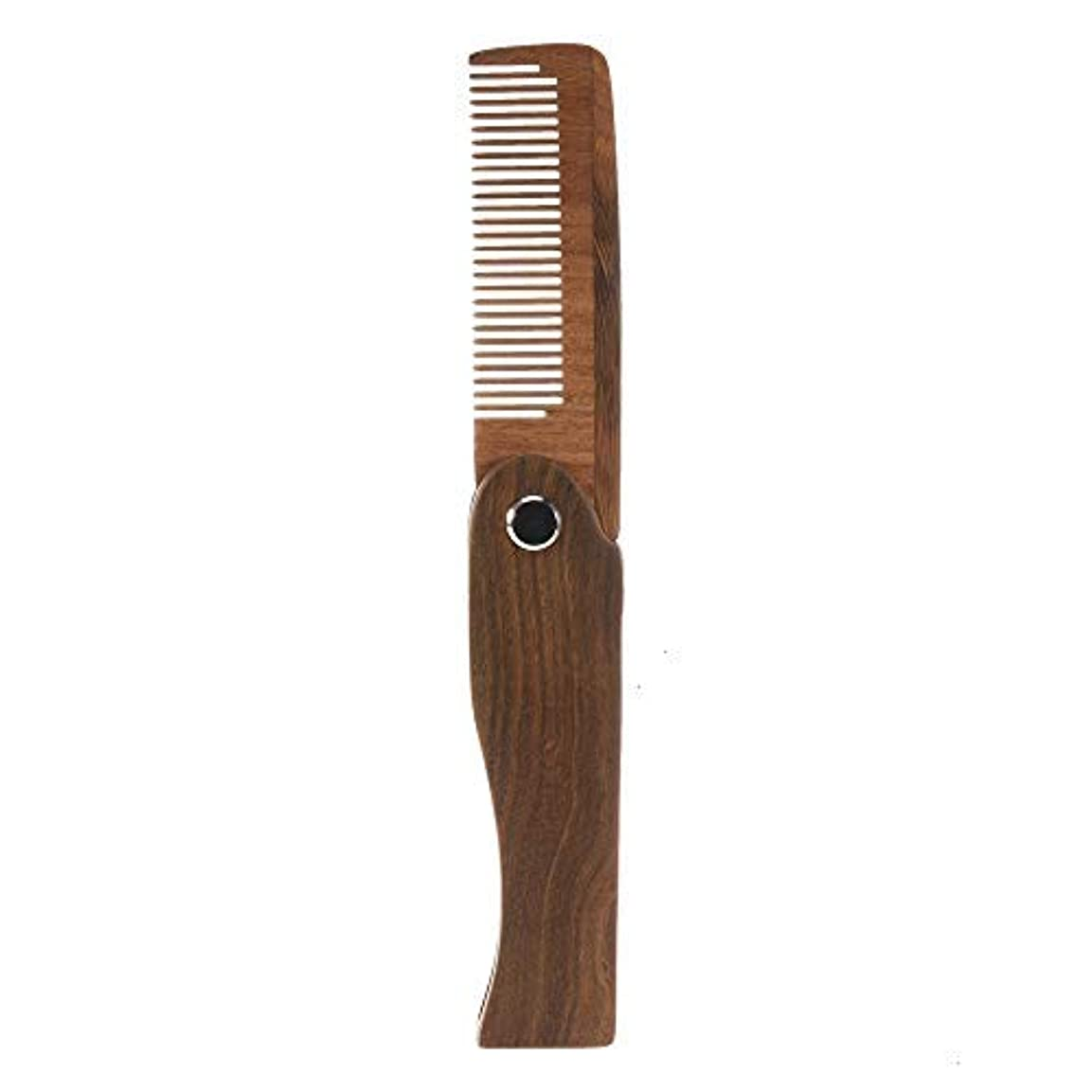 ジェム累積プラグFeeko Folding Wooden Comb, 1 PC Pocket Size Hair Beard Fold Wooden Comb Durable Anti-Static Sandalwood Comb Every...