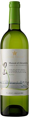 日本ワイン グランポレール 岡山 マスカット・オブ・アレキサンドリア 薫るブラン 750ml