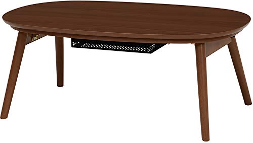 こたつ こたつテーブル コタツテーブル 90cm 楕円 折れ...