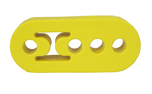 【DWSg】 強化 マフラー ハンガー 可調整 吊りゴム イエロー 12mm 4ホール 3個 セット 汎用 タイプ マウント リング 三段階 高さ 調整 A190