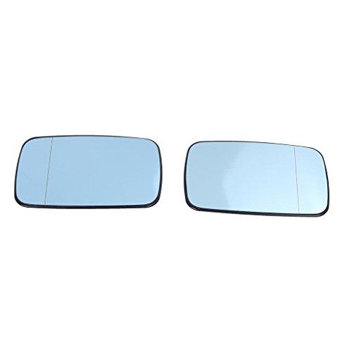 (ベンマロ)BENMALL- ブルーミラー サイドミラー ガラス 左+右サイド BMW E39/E46 323i 328i 525i 528i 540i 車用ミラー カスタムパーツ 加熱 広角 P503