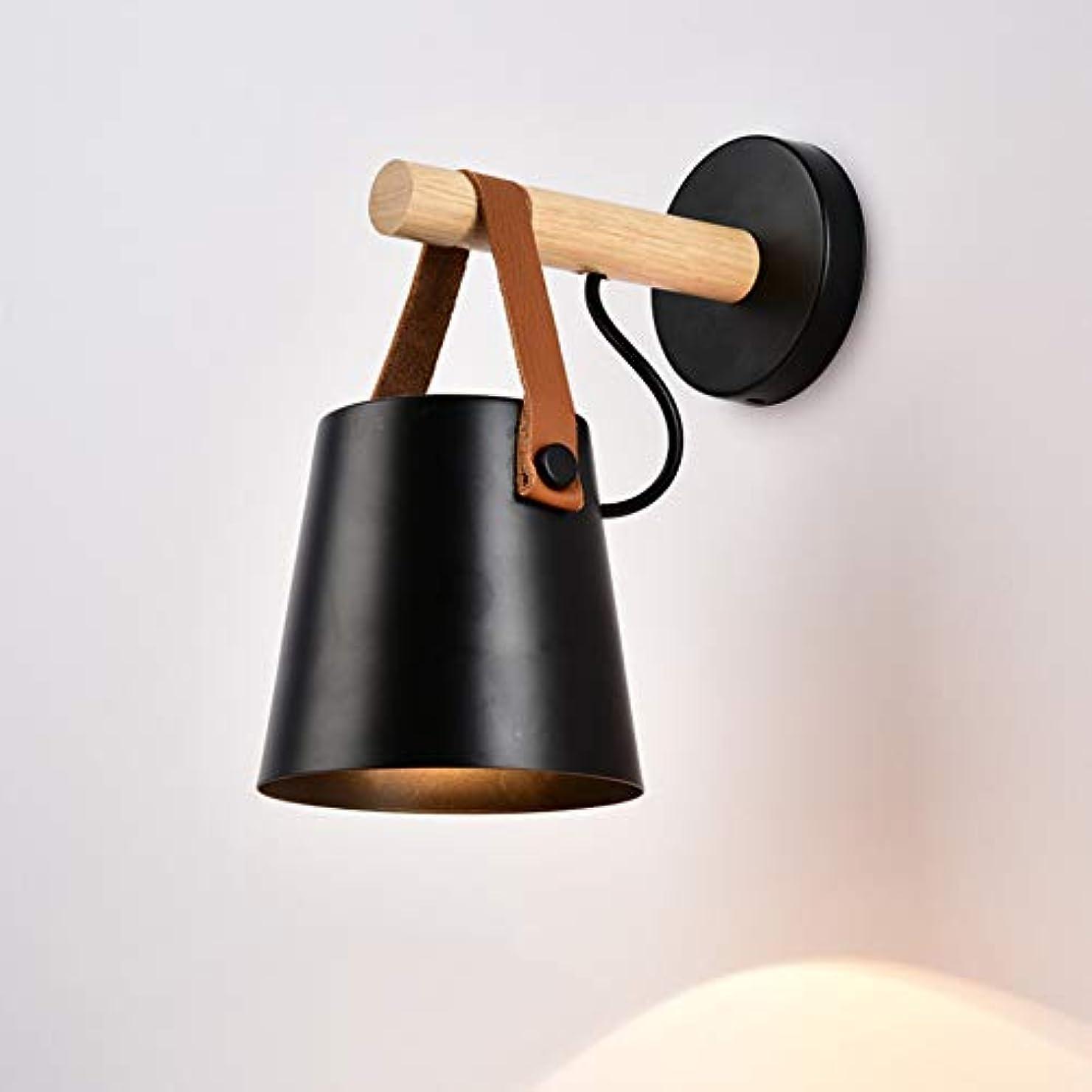 コックマイクロハードwall lamp 壁灯、 ベルト ウッドアート Led リビングルーム 寝室 ベッドサイド イルミネーション ウォールランプ1、 調査 バルコニー 読む 壁灯 ランプ 金属製ランプシェード/黒 / 22x26cm