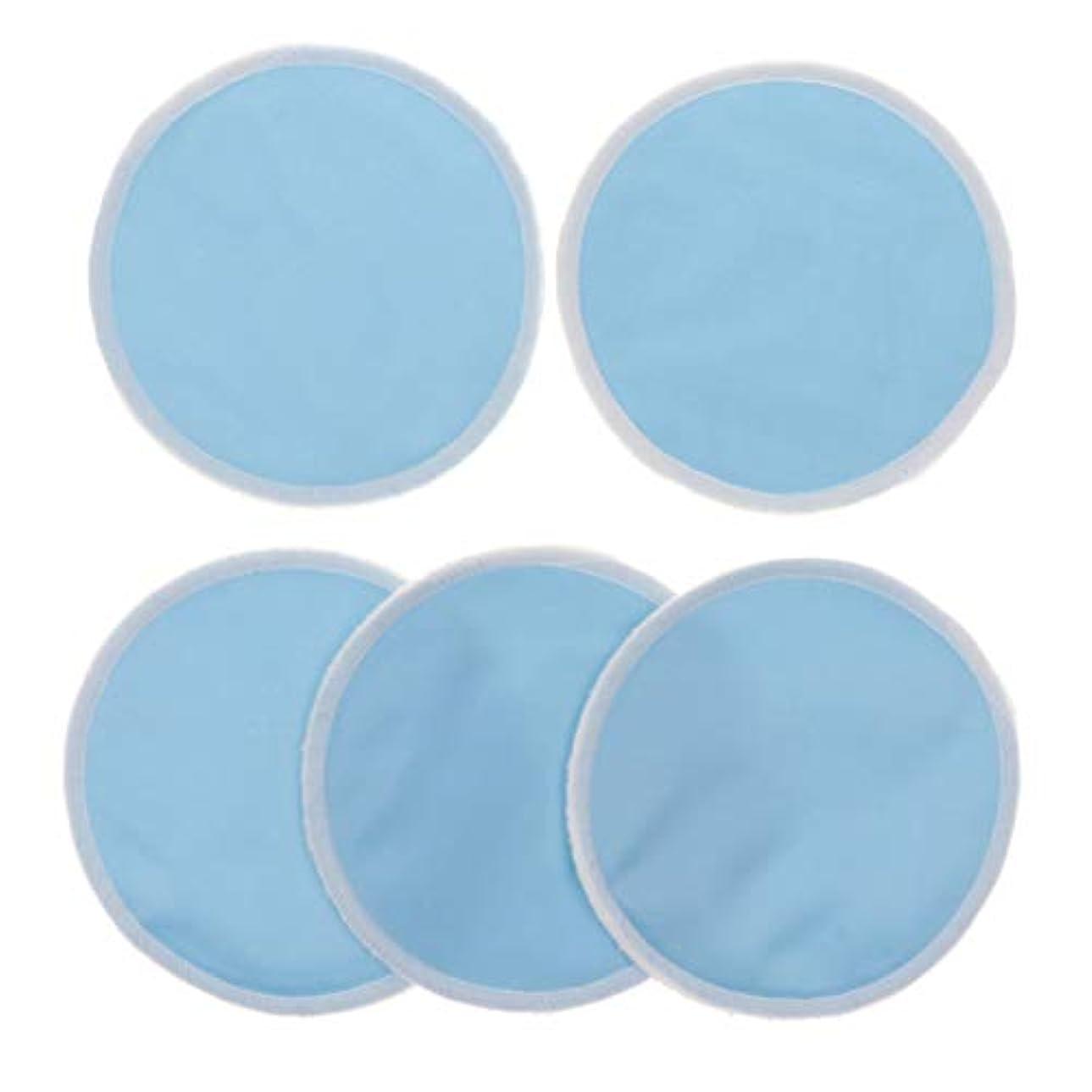 留まる年関数Fenteer 12cm 胸パッド クレンジングシート 化粧水パッド 竹繊維 円形 洗える 再使用可能 5個 全5色 - 青
