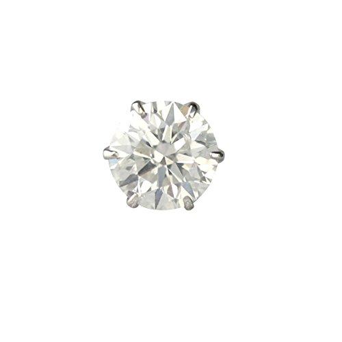 【 DIAMOND WORLD 】レディース ジュエリー PT900 ダイヤモンド ピアス 大粒 0.5ct 6本爪タイプ G・Hカラー SI2クラス Goodカットアップ ダイヤ使用GGSJソーティング(鑑定書の元)付 片耳ピアス メンズ