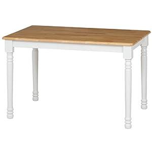 不二貿易 ダイニングテーブル マキアート 4人掛け用 ホワイト ナチュラル 96668