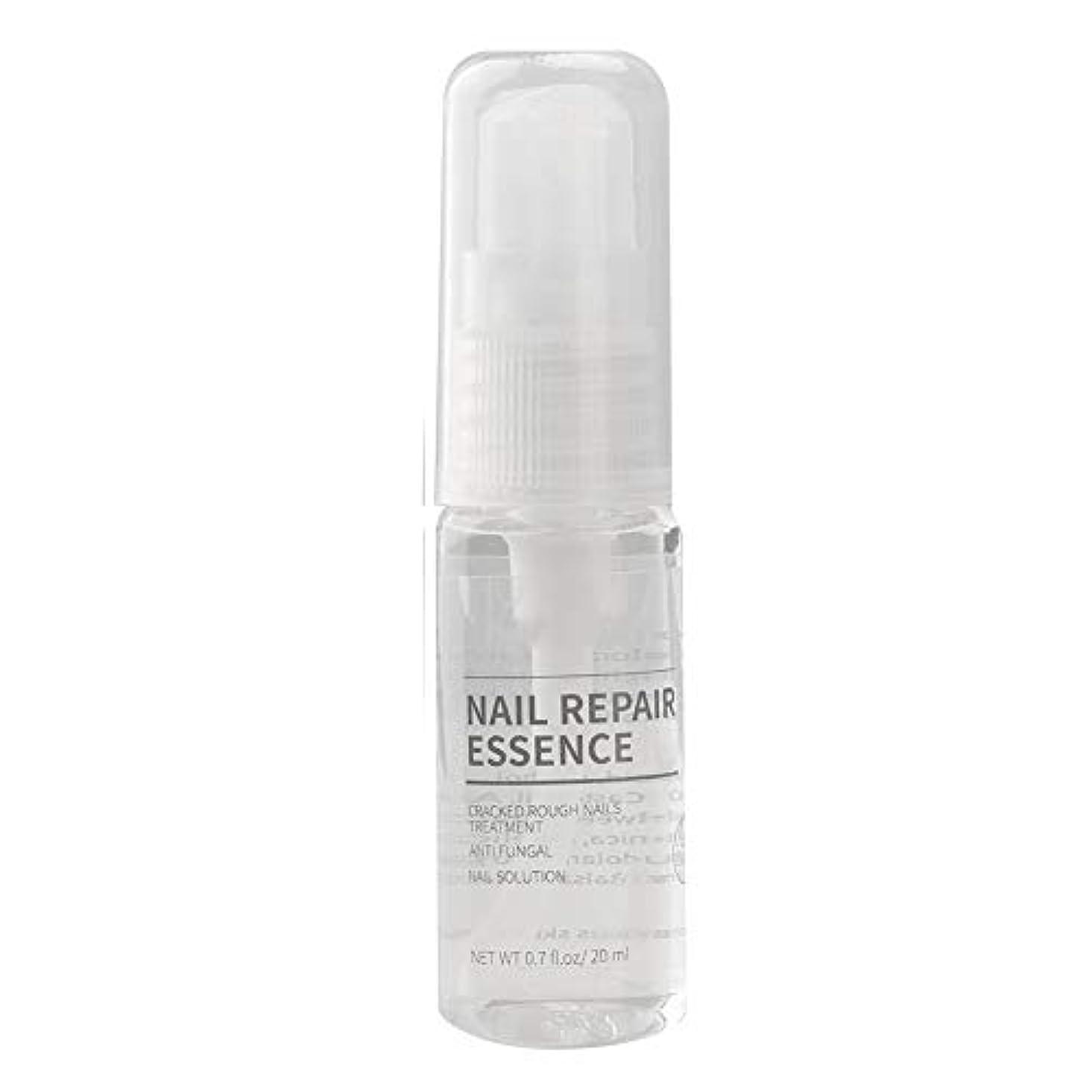 ベッドデッキバイソンネイルリペアリキッドケアソリューション、かゆみ臭いに対して効果的な脆いひびの入った爪から保護、足の爪ケアスプレーペンシル20ml