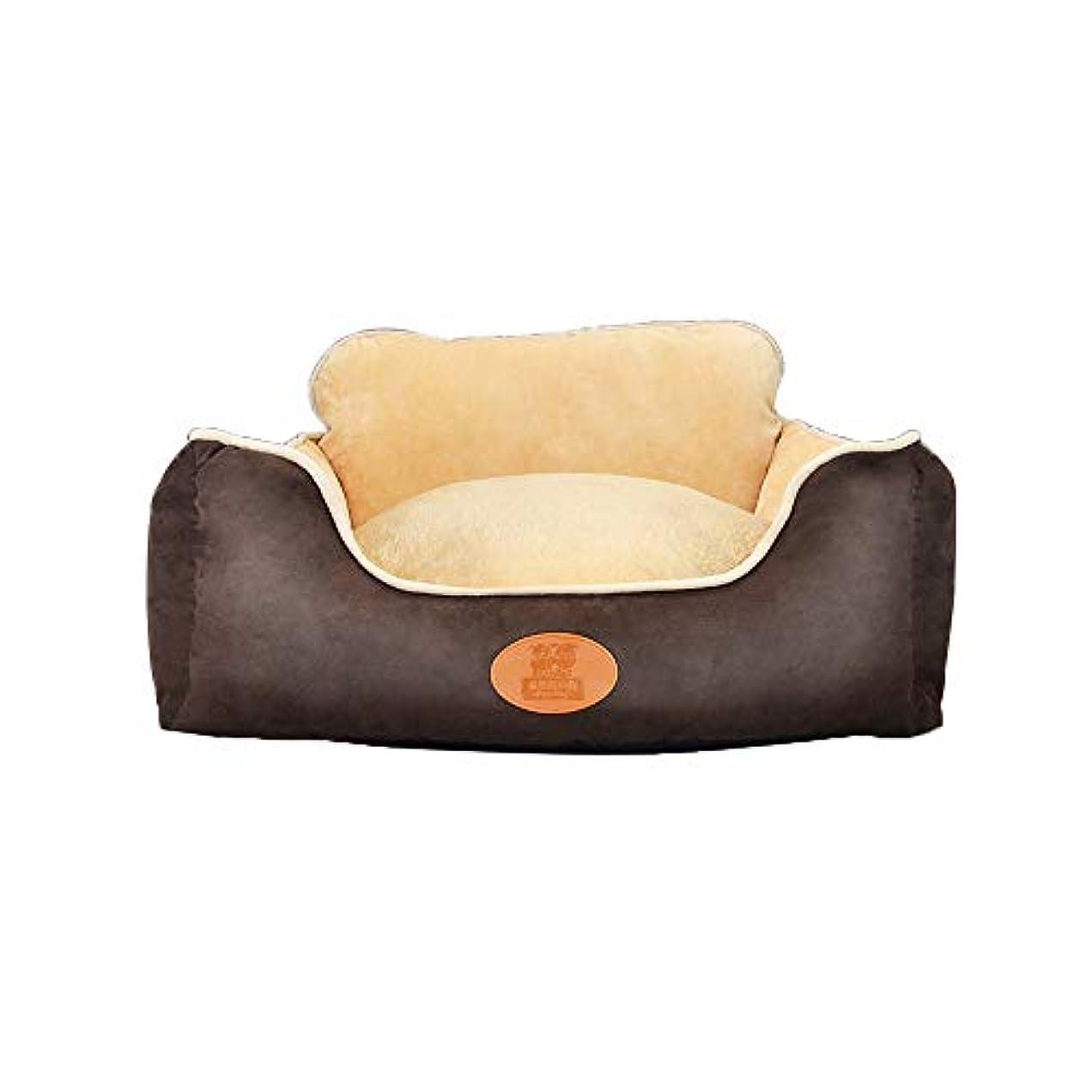 高度なエレガント縁YQQ ペット用ベッド、 猫の巣 犬 洗える 柔らかい 冬 犬用ベッド かじり抵抗 (色 : Brown, サイズ さいず : XXL)