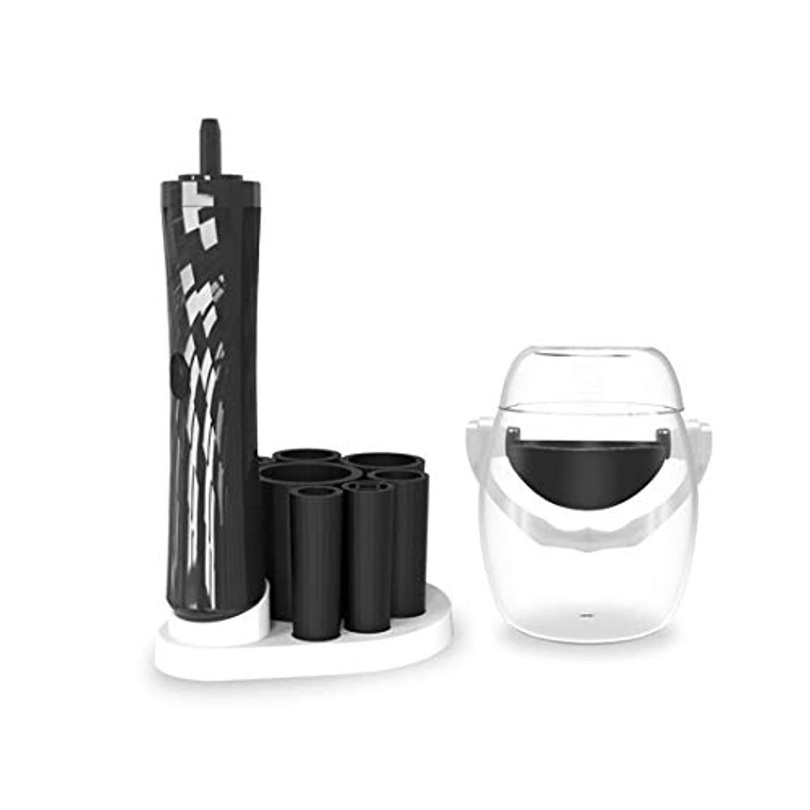 上下する平らなスラック辽阳世纪电子产品贸易中心 化粧ブラシツール自動洗剤、黒を洗ってください。 (色 : ホワイト)
