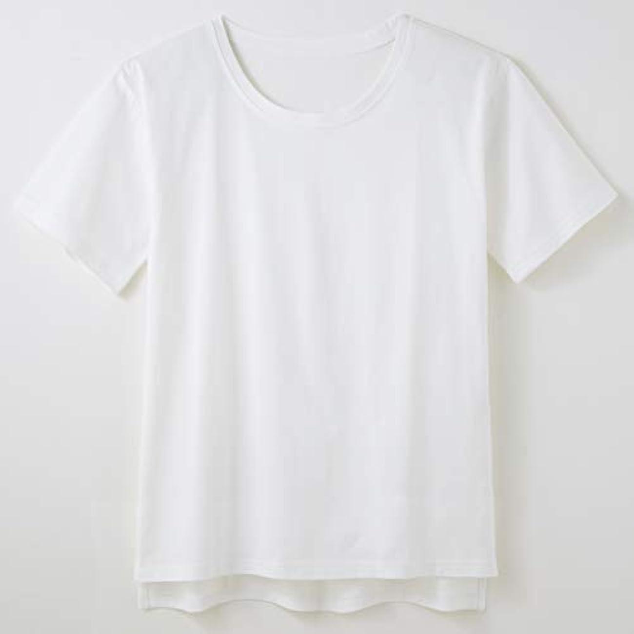 高さ不器用扱うセルヴァン 綿100% 汗ジミ目立ちにくいTシャツ 杢グレー LL