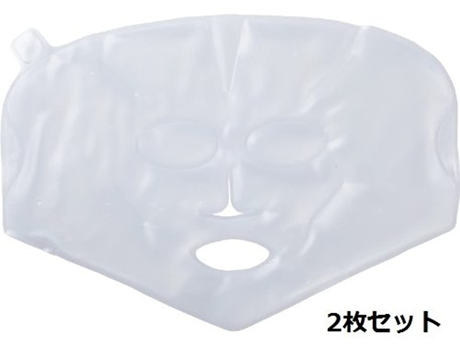 ロマンス反対する丘【温感?冷感兼用】柔らかく使用感の良い、業務用バイオジェルマスク 2枚セット