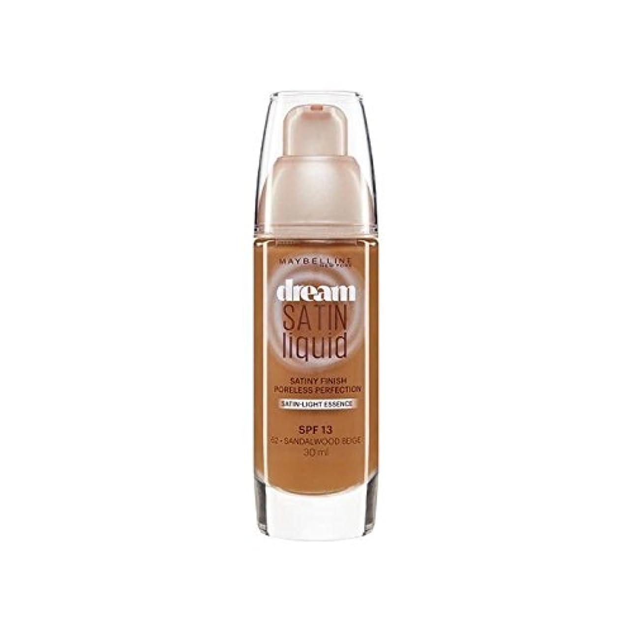 起点かび臭いいろいろMaybelline Dream Satin Liquid Foundation 64 Deep Spice 30ml (Pack of 6) - メイベリン夢サテンリキッドファンデーション64深いスパイス30ミリリットル...