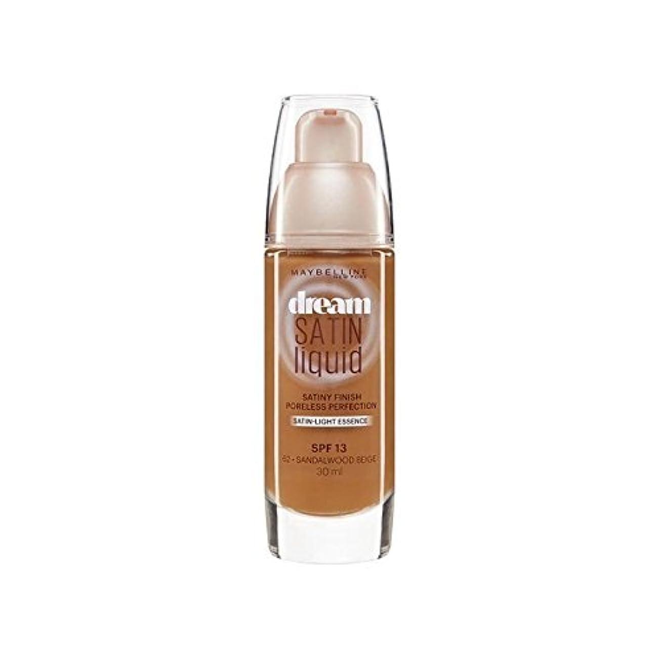 役に立つシングル温度計メイベリン夢サテンリキッドファンデーション64深いスパイス30ミリリットル x4 - Maybelline Dream Satin Liquid Foundation 64 Deep Spice 30ml (Pack of...