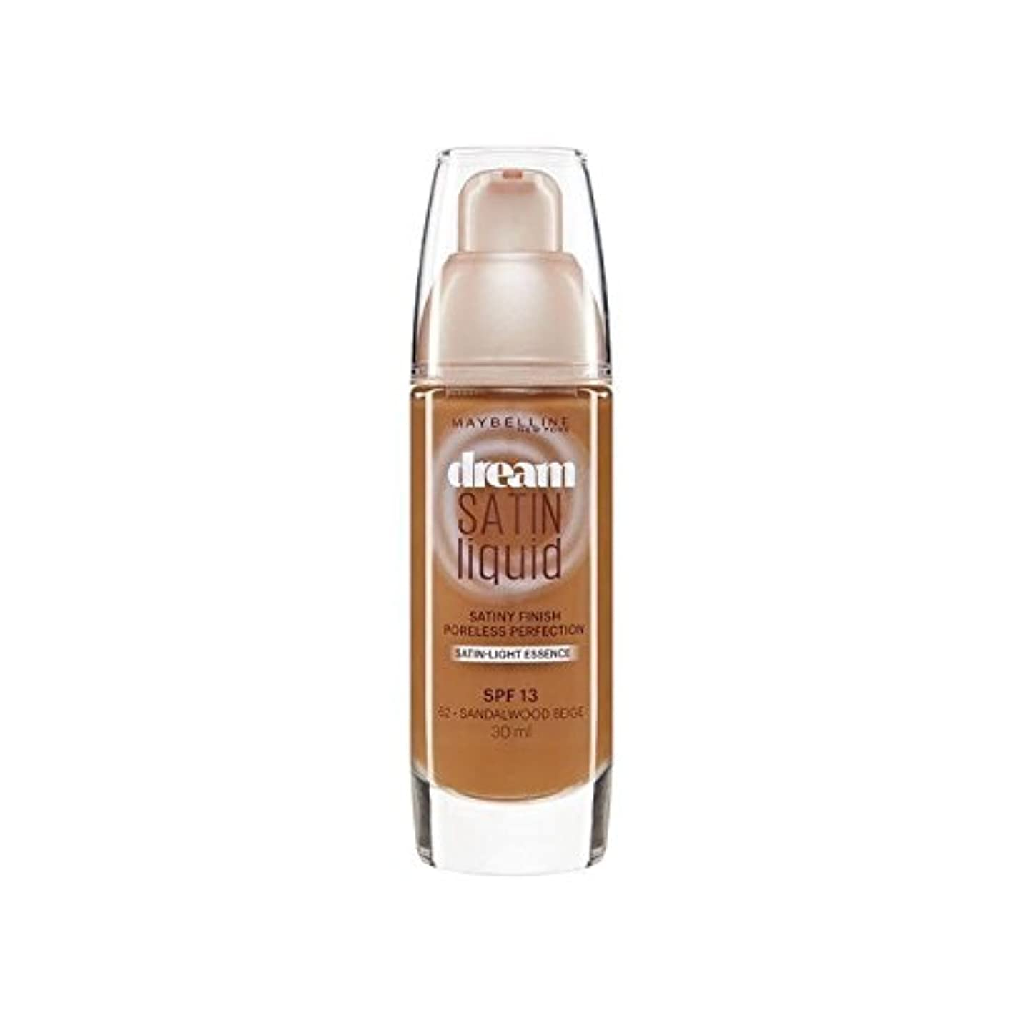 マーチャンダイジングゆるいの中でメイベリン夢サテンリキッドファンデーション64深いスパイス30ミリリットル x4 - Maybelline Dream Satin Liquid Foundation 64 Deep Spice 30ml (Pack of...