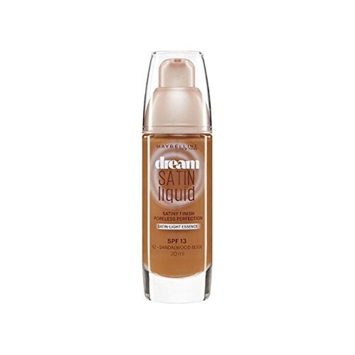 パイプモードリンバージンMaybelline Dream Satin Liquid Foundation 64 Deep Spice 30ml (Pack of 6) - メイベリン夢サテンリキッドファンデーション64深いスパイス30ミリリットル...
