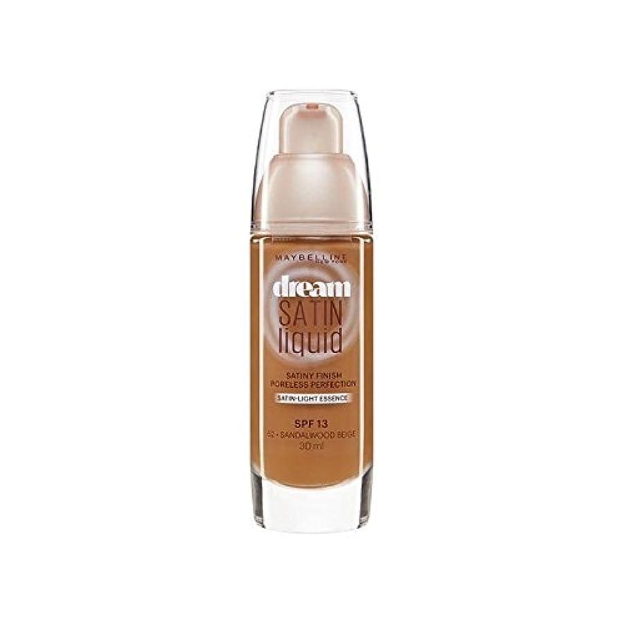 ハイジャック一掃する苦味Maybelline Dream Satin Liquid Foundation 64 Deep Spice 30ml (Pack of 6) - メイベリン夢サテンリキッドファンデーション64深いスパイス30ミリリットル...