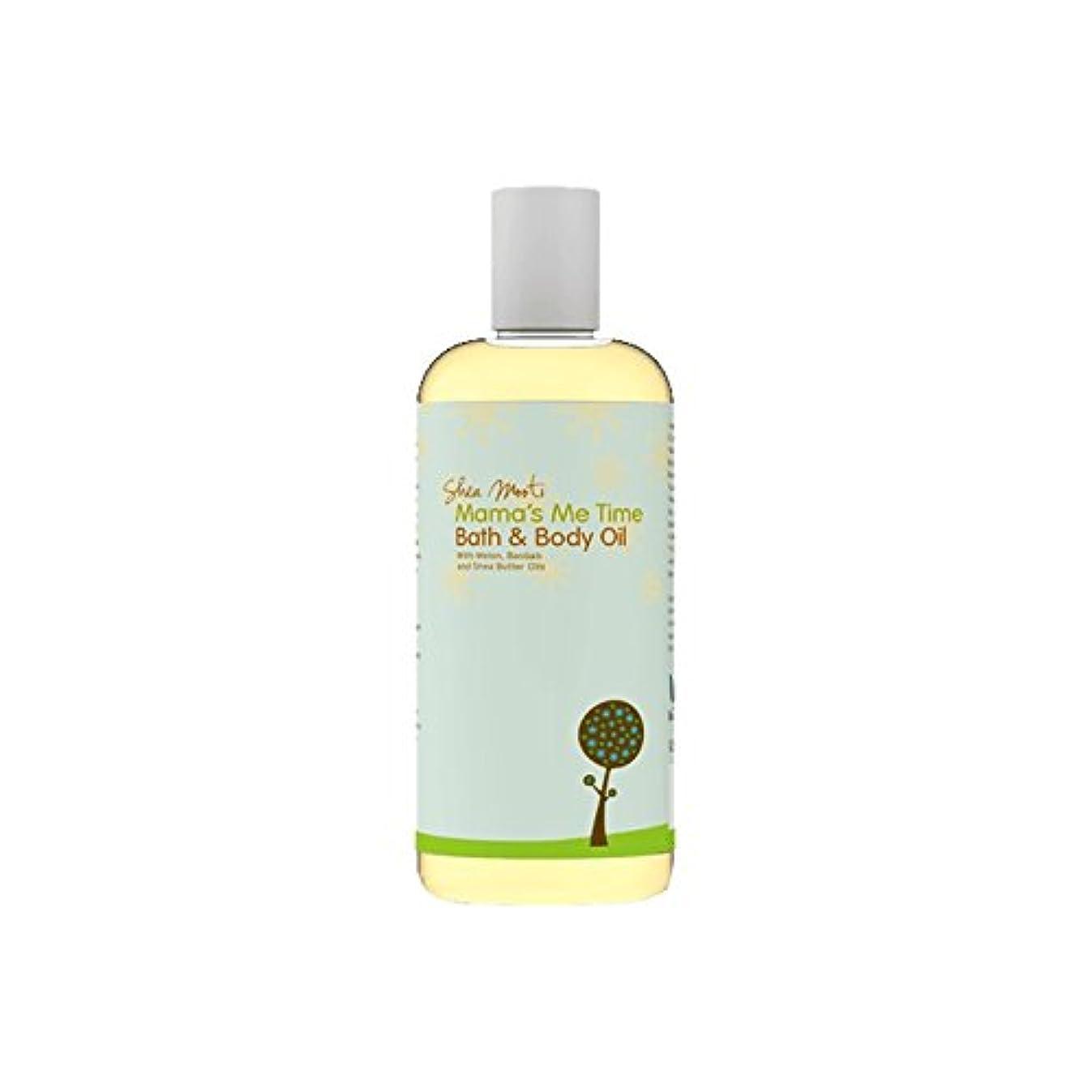 電子キリン自然Shea Mooti Mama's Me Time Bath and Body Oil 110g (Pack of 6) - シアバターMootiママの私の時間のバス、ボディオイル110グラム (x6) [並行輸入品]