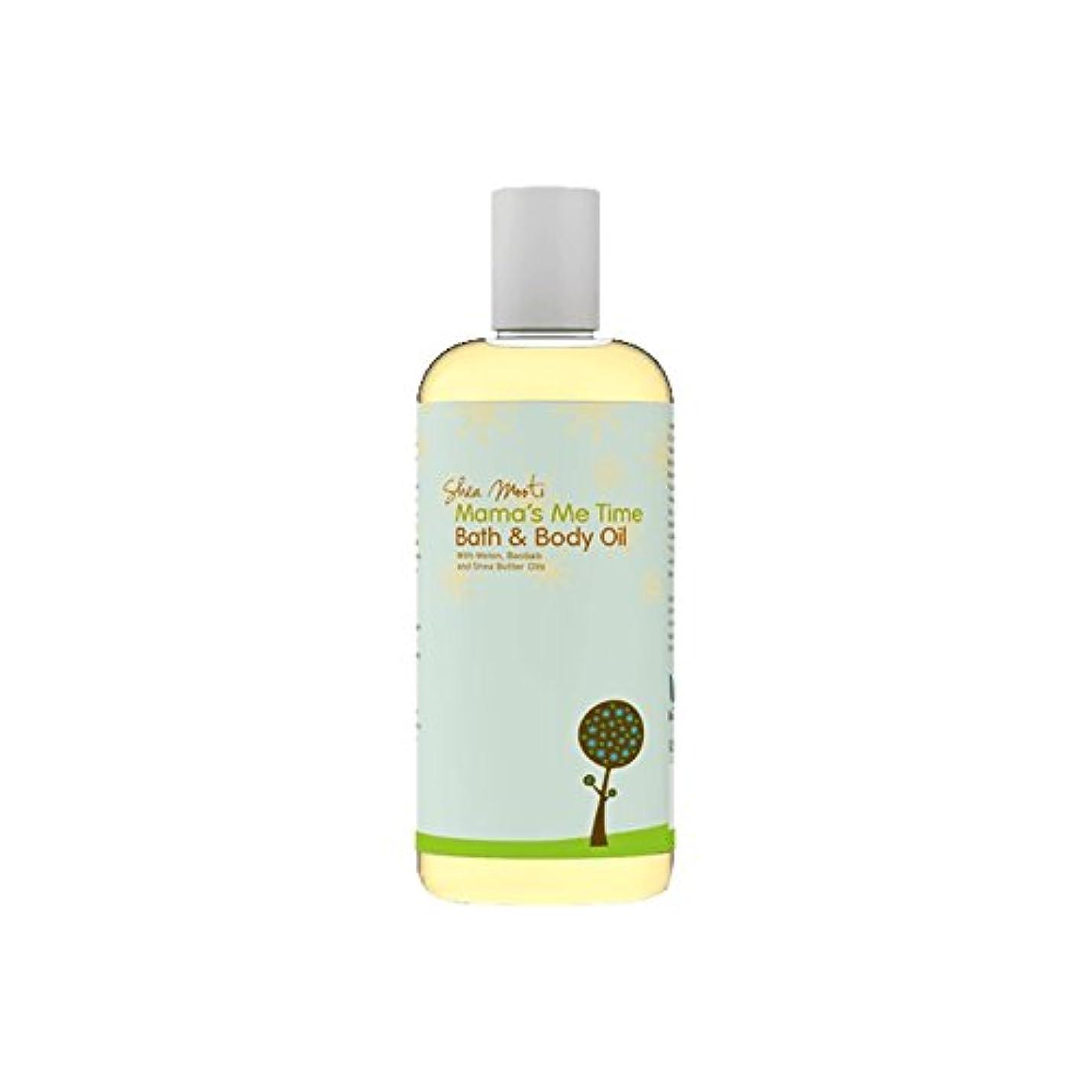 数学的なワードローブカジュアルShea Mooti Mama's Me Time Bath and Body Oil 110g (Pack of 6) - シアバターMootiママの私の時間のバス、ボディオイル110グラム (x6) [並行輸入品]