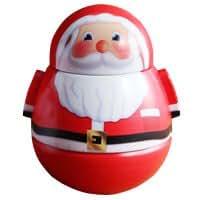 クリスマス 起き上がりこぼし缶 ワンサイズ サンタ