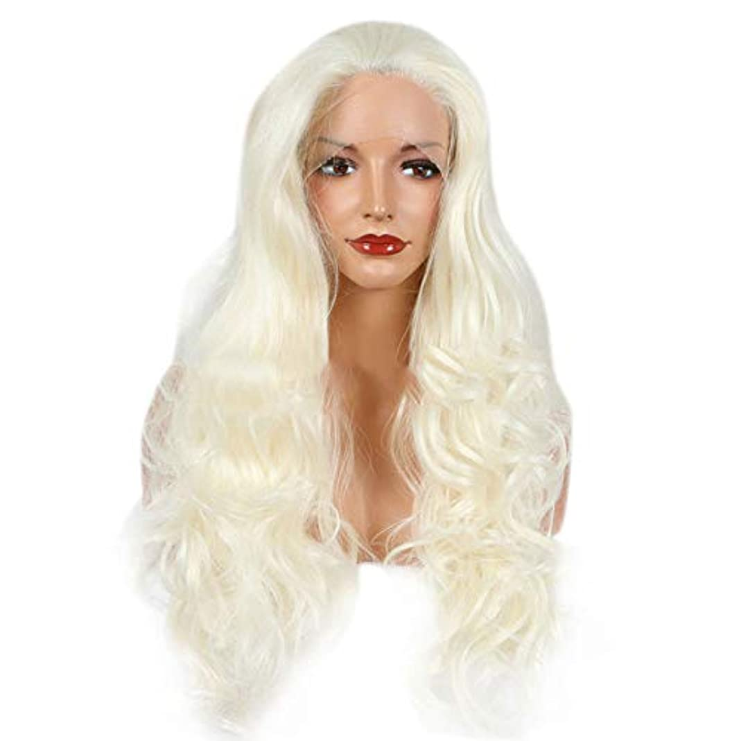 美人理解スクラッチYOUQIU 女性ウィッグキャップカーリーヘアウィッグで女子ショートボブスタイル (色 : Cremy-white)