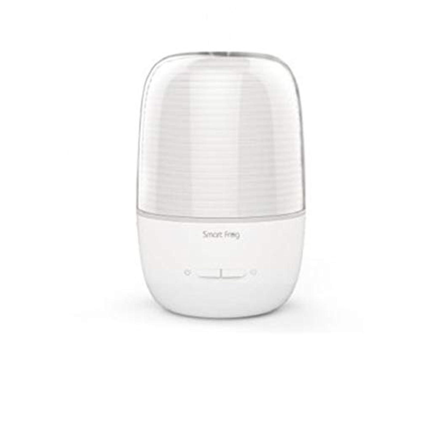 時計回り見る激怒130ml超音波冷たい霧の加湿器の変更家のヨガのオフィスの鉱泉の寝室の拡散器 (Color : White)