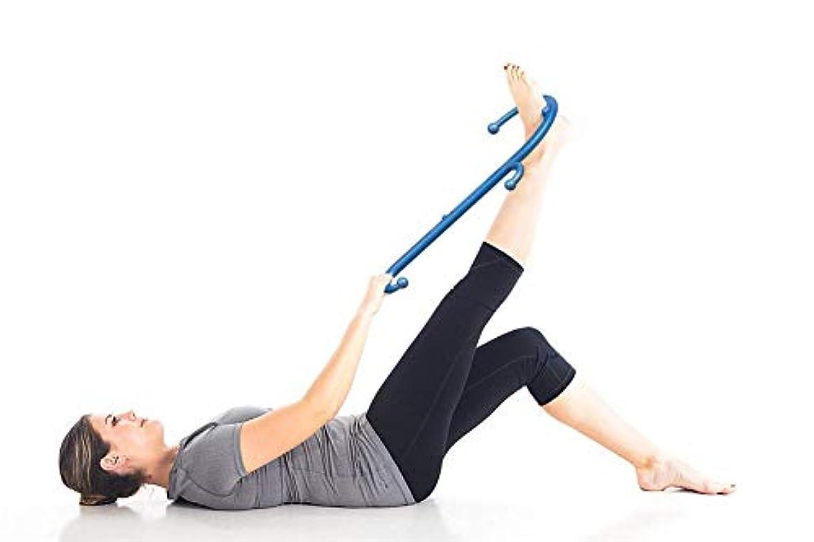 クリーム非難測定可能肩と首の背中のマッサージャー11マッサージノブ筋肉フック指のマッサージャーS形、首と肩の痛みを和らげる筋膜
