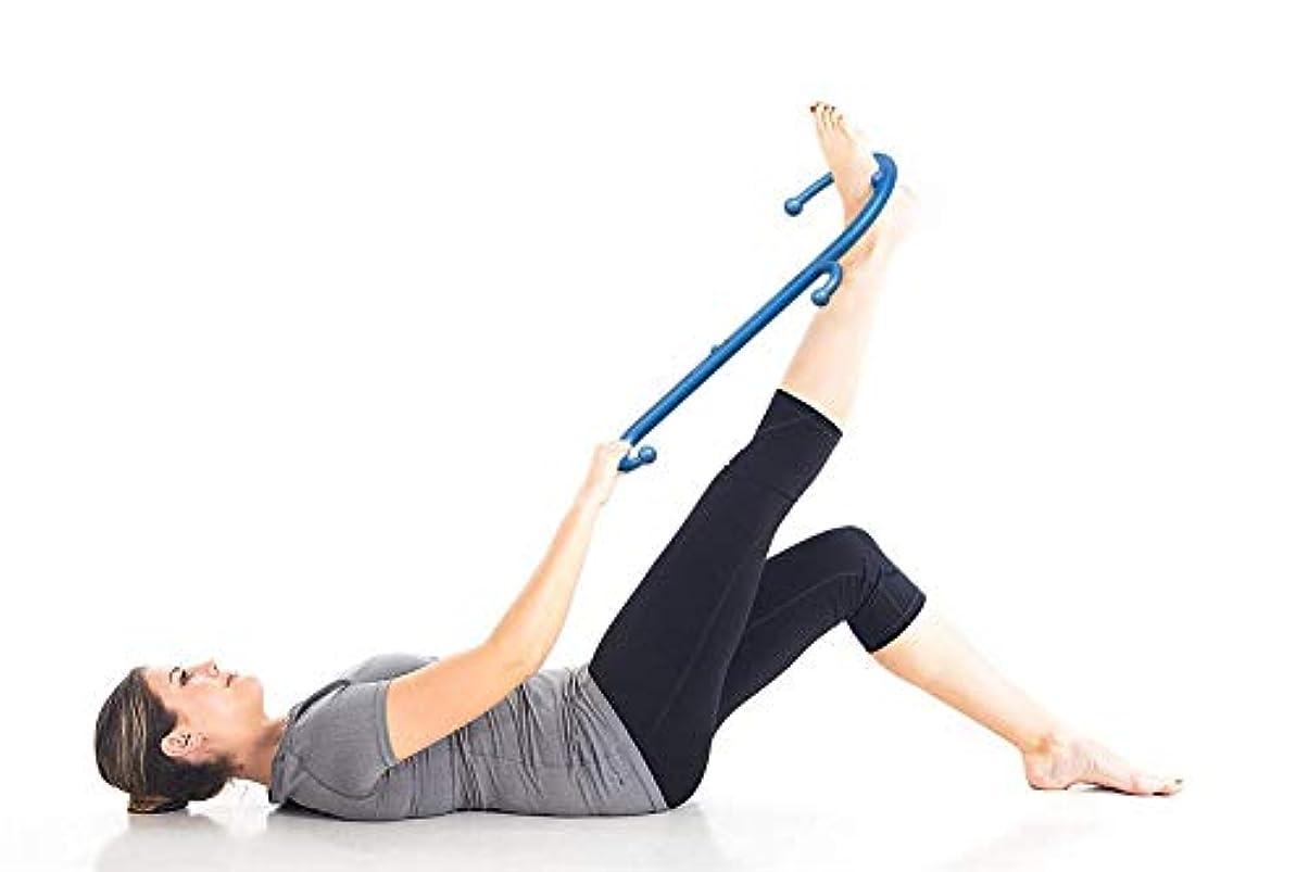 座るいらいらする高架肩と首の背中のマッサージャー11マッサージノブ筋肉フック指のマッサージャーS形、首と肩の痛みを和らげる筋膜