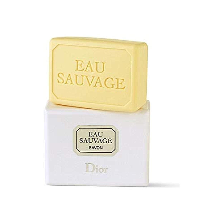 明快津波ラベル[Dior ] ディオールオーソバージュソープ - Dior Eau Sauvage Soap [並行輸入品]