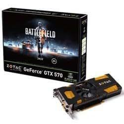 ZOTAC GeForce GTX570搭載ビデオカード(PCIe対応) BATTLEFIELD 3 推奨モデル ZOTAC GeForce GTX570 1280MB DDR5 BF3 (BF3-ZTGTX570-1GD5R)