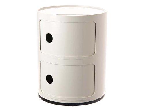 (カルテル) Kartell COMPONIBILI 2 ELEMENT 4966 チェスト/コンポニビリ ラウンドチェスト2段 03/white(ホワイト) [並行輸入品]