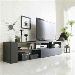 伸縮できるおしゃれなテレビ台(テレビボード・伸縮テレビ台・コーナーテレビ台) 【幅90】 ブラック