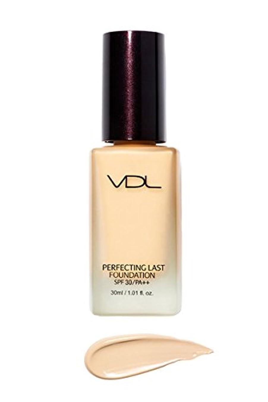 通常金貸し気体のVDL ブイディーエル パーフェクティング?ラスト?ファンデーション SPF30 PA++ 30ml 3類 (Perfecting Last Foundation) 海外直送品 (V02-Vanilla Base-)