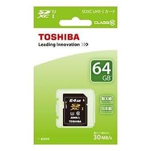 東芝 SDXCメモリーカード 64GB Class10 UHS-I SDAU064G [PC]