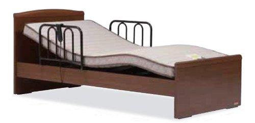フランスベッド 家庭用介護ベッド イーゼルシリーズ イーゼル002F 1モーター、ワイヤーコントローラー  シングルサイズ ピ-チ色 フレーム+マットレスセット (非課税品)専門業者組み立て品
