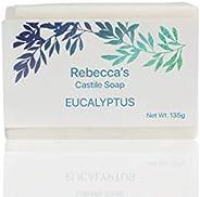 Rebecca's Castile Soap - Natural & Handmade - With Cold-Pressed Olive Oil, Organic Virgin Coconut Oil,