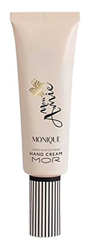 入るナラーバー砂のMOR(モア) モナミー ハンドクリーム モニーク(グアバとアップルのフルーティな印象にサンダルウッドとムスクの組み合わせが香ります) 50ml