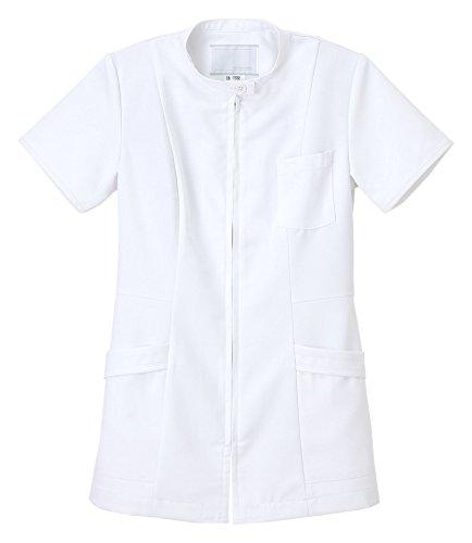 ナガイレーベン 女子上衣 医療白衣 半袖 ホワイト S CB-1532