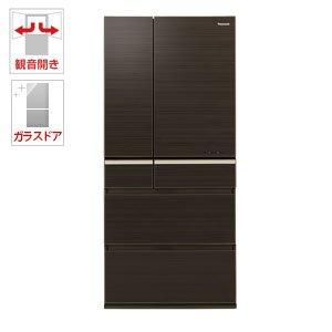 パナソニック 665L 6ドア冷蔵庫(グロッシーウッドブラウン)Panasonic エコナビ NR-F673WPV-T