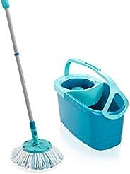 Leifheit Clean Twist Disc Mop Ergo Mop and Bucket, Floor Mop with Moisture-Controlled Spin Mop, Easy-Steer 360