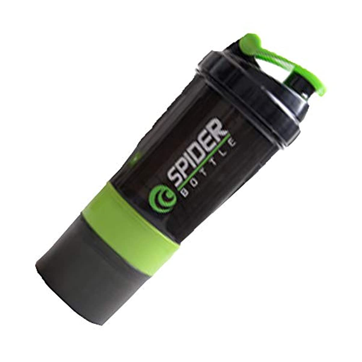 ボードアーク最大Cangad プロテインシェーカー ブレンダーボトル 3層ハンディー式 タンパク質パウダーミキサーボルト 500-600ML 栄養錠剤ビタミン入れ ダイエットドリンク用 (グリーン)