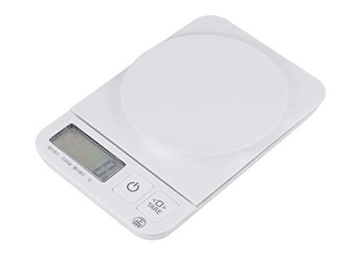 パール金属 クッキングスケール(デジタルタイプ) ホワイト 17.5×11.6×2.5cm 2.0kg/1g 用 D-5158