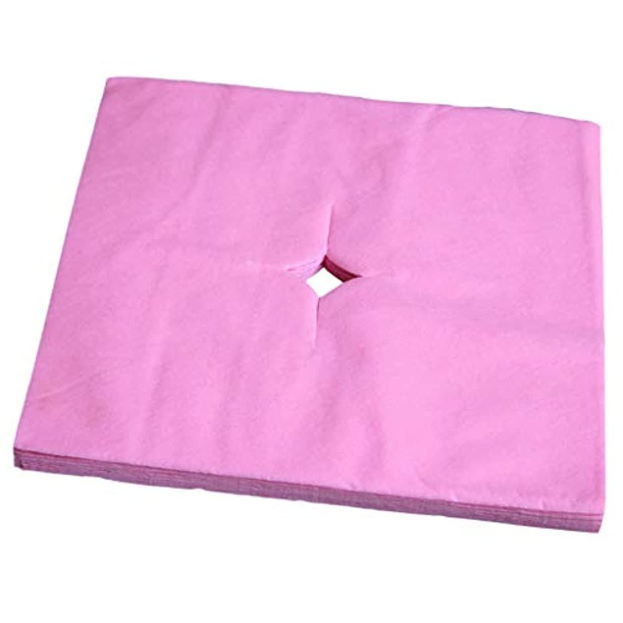 かろうじて符号ピービッシュフェイスクレードルカバー 使い捨て 寝具カバー 不織布 柔らかい 便利 衛生的 全3色 - ピンク