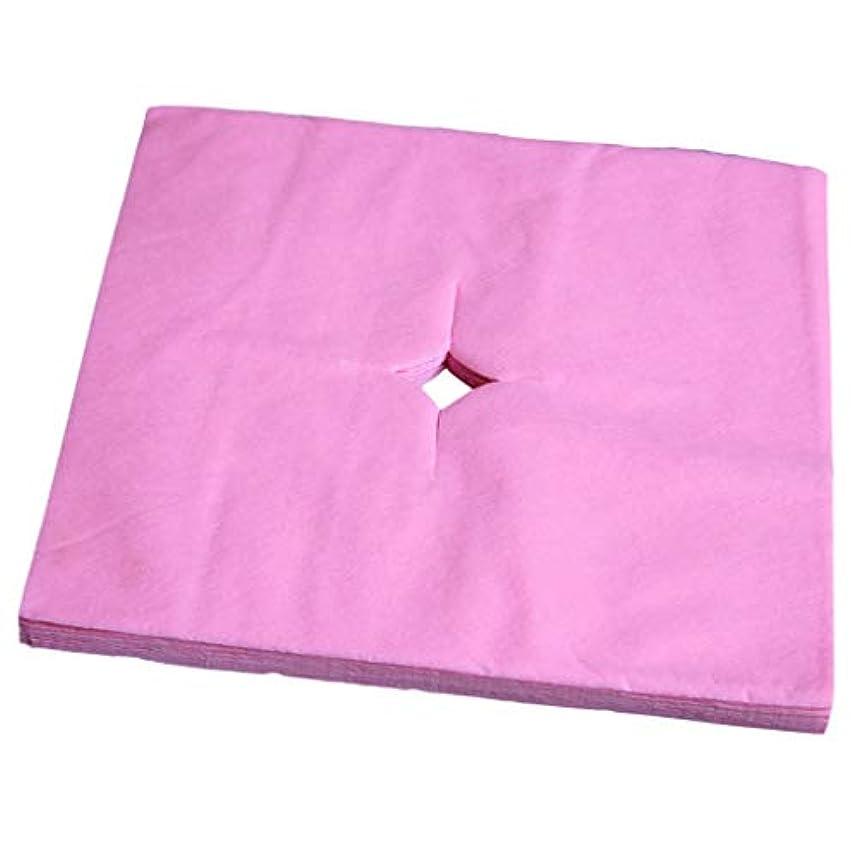 P Prettyia フェイスクレードルカバー 使い捨て 寝具カバー 不織布 柔らかい 便利 衛生的 全3色 - ピンク