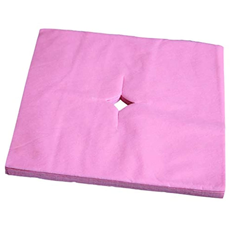 社説印象的非常にフェイスクレードルカバー 使い捨て 寝具カバー 不織布 柔らかい 便利 衛生的 全3色 - ピンク