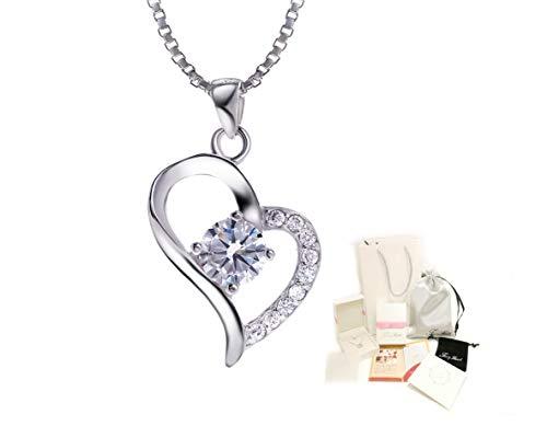 f57074dabb Fairy Heart オープンハート ネックレス チェーン2種類 レディースネックレス豪華ギフトセット 永遠の愛を送ります(オープンハート)