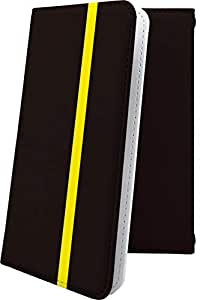 Galaxy S9 SC-02K / SCV38 ケース 手帳型 黄色 イエロー きいろ おしゃれ ギャラクシー エスナイン 手帳型ケース かっこいい galaxys9 sc02k scv 38 ボーダー マルチストライプ