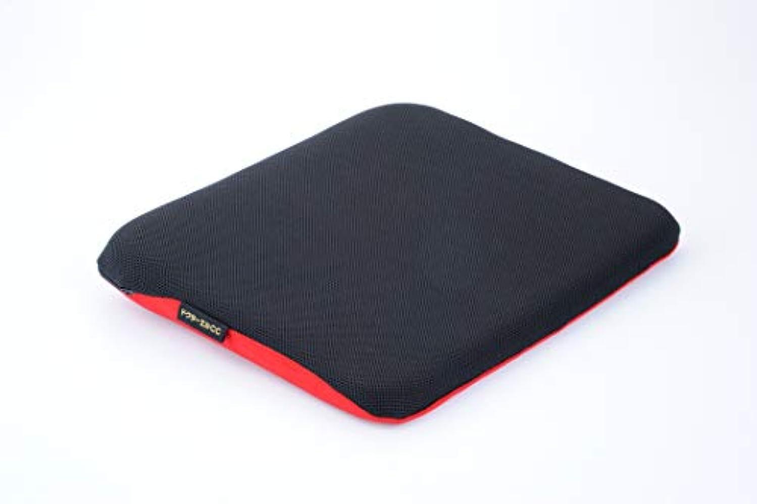 スモッグライナー贅沢なドクターエル ドクターエルCC 黒×赤 車専用腰痛対策クッション