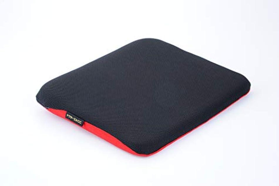 枠均等に家具ドクターエル ドクターエルCC 黒×赤 車専用腰痛対策クッション