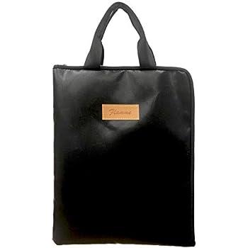 Flamme 耐熱 耐火 鞄 かばん ハンドバッグ バッグ バック 書類 保管 ケース 金庫 ビジネス アウトドア 現金 収納 集金 防水 防災 手提げ 家庭用 小型 A4サイズ対応 黒 (ブラック)